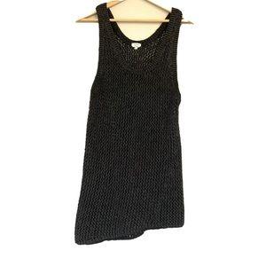 Wilfred Aritzia Sleeveless Sweater Tunic Open Knit